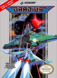 Gradius (3 screw cartridge) Box Art