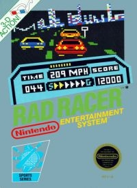 Rad Racer (3 Screw Cartridge, Round Seal) Box Art