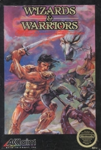 Wizards & Warriors (3 screw cartridge, round seal) Box Art