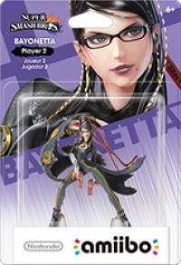 Bayonetta (Player 2) - Super Smash Bros. (gray Nintendo logo) Box Art