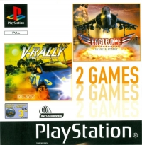 2 Games: V-Rally / Eagle One: Harrier Attack Box Art
