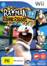 Rayman Raving Rabbids: TV Party Box Art