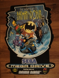 Adventure of Batman & robin Megadrive game gear Store Display/Promotional Sign double sided Box Art