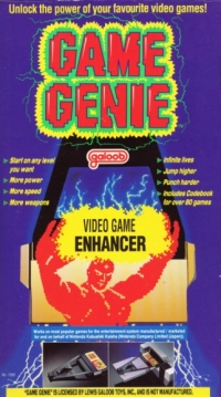 Game Genie (NES) Box Art