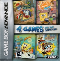 4 Games on One Game Pak: SpongeBob SuperSponge / Nicktoons Freeze Frame Frenzy / Fairly Oddparents Enter The Cleft / Ro Box Art