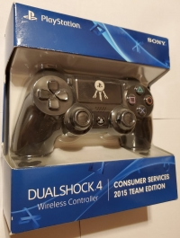 PlayStation 4 Dualshock 4 Wireless Controller - Consumer Services 2015 Team edition Box Art