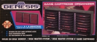 A.L.S. Industries Sega Genesis Game Cartridge Organizer S-24 (silver label) Box Art