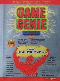 Galoob Camerica Game Genie (gold label) Box Art