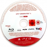 UFC Undisputed 3 (Not for Resale) Box Art