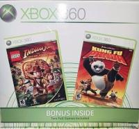 Microsoft Xbox 360 - Lego Indiana Jones / Kung Fu Panda Box Art