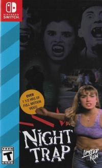 Night Trap (blue cover) Box Art