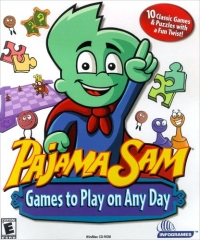 Pajama Sam: Games to Play on Any Day Box Art