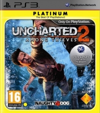 Uncharted 2: Among Thieves - Platinum Box Art
