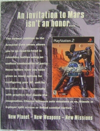 Armored Core 2 Promotional Flyer (Double-sided Leaflet) Box Art