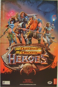 Dungeons & Dragons: Heroes Promotional Flyer / Poster Box Art