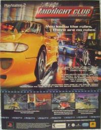 Midnight Club: Street Racing Promotional Flyer Box Art