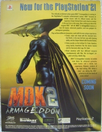 MDK 2: Armageddon Promotional Flyer (ESRB RP) Box Art