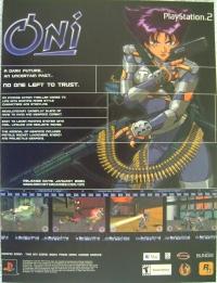 Oni Promotional Flyer (Black Background) Box Art
