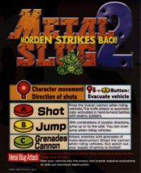 Metal Slug 2 Box Art