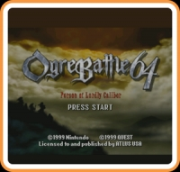 Ogre Battle 64: Person of Lordly Caliber Box Art