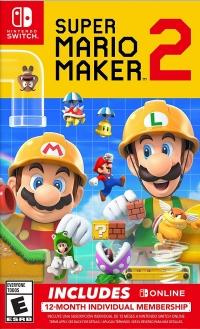 Super Mario Maker 2 (Includes Online 12-Month Individual Membership) Box Art