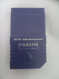 Piranha Xtreme GC16 16Mb Memory card Box Art