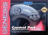 Sega Control Pad (black letters) [US] Box Art