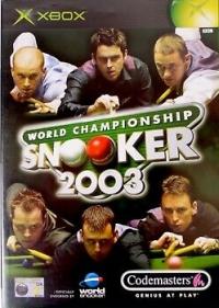 World Championship Snooker 2003 Box Art