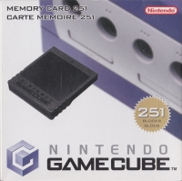 Nintendo GameCube Memory Card 251 - Black [NA] Box Art