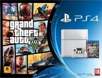 Sony PlayStation 4 CUH-1116A - Grand Theft Auto V (Glacier White) Box Art
