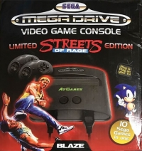 Blaze Sega Mega Drive Video Game Console - Streets of Rage Limited Edition Box Art