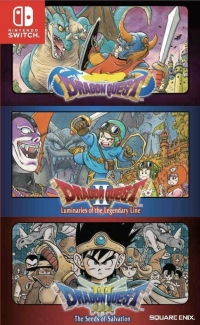 Dragon Quest / Dragon Quest II: Luminaries of the Legendary Line / Dragon Quest III: The Seeds of Salvation (English) Box Art