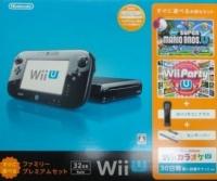Nintendo Wii U - Sugu ni Asoberu Family Premium Set - New Super Mario Bros. U / Wii Party U (Black) Box Art