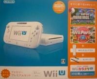 Nintendo Wii U - Sugu ni Asoberu Family Premium Set - New Super Mario Bros. U / Wii Party U (White) Box Art