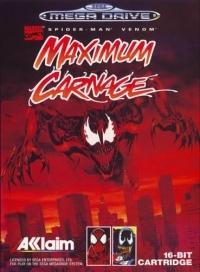 Spider-Man and Venom: Maximum Carnage (black cartridge) Box Art