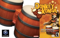 Donkey Konga (DK Bongos Included) Box Art