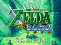 Legend of Zelda: Four Swords Anniversary Edition Box Art