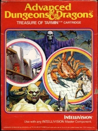 Advanced Dungeons & Dragons: Treasure of Tarmin (Blue Cartridge Label) Box Art
