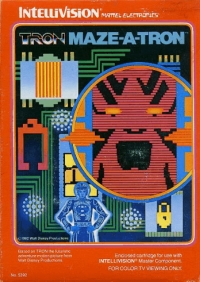 Tron: Maze-A-Tron (Red Label) Box Art