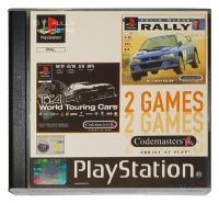 2 Games - Colin Mc Rae Rally /  Toca World Touring Cars Box Art