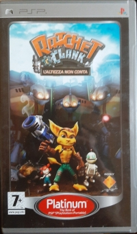 Ratchet & Clank: L'altezza Non Conta - Platinum Box Art