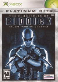 Chronicles of Riddick, The: Escape from Butcher Bay - Platinum Hits Box Art