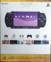 Sony PlayStation Portable PSP-3001XPB (Piano Black) [NA] Box Art