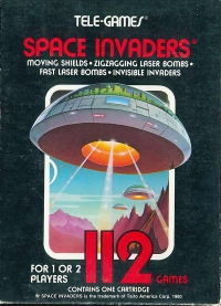 Space Invaders (Sears text label) Box Art