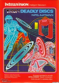 Tron Deadly Discs (red label) Box Art