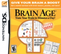 Brain Age: Train Your Brain in Minutes a Day! (New Cover Variation) Box Art