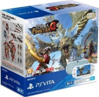 Sony PlayStation Vita PCH-2007 - Monster Hunter Frontier G (Light Blue/White) Box Art