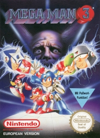 Mega Man 3 Box Art