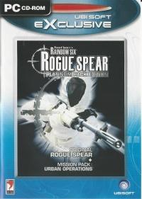 Tom Clancy's Rainbow Six: Rogue Spear - Platinum Pack Edition - Ubisoft Exclusive Box Art