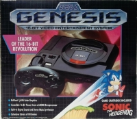 Sega Genesis - Sonic the Hedgehog Box Art